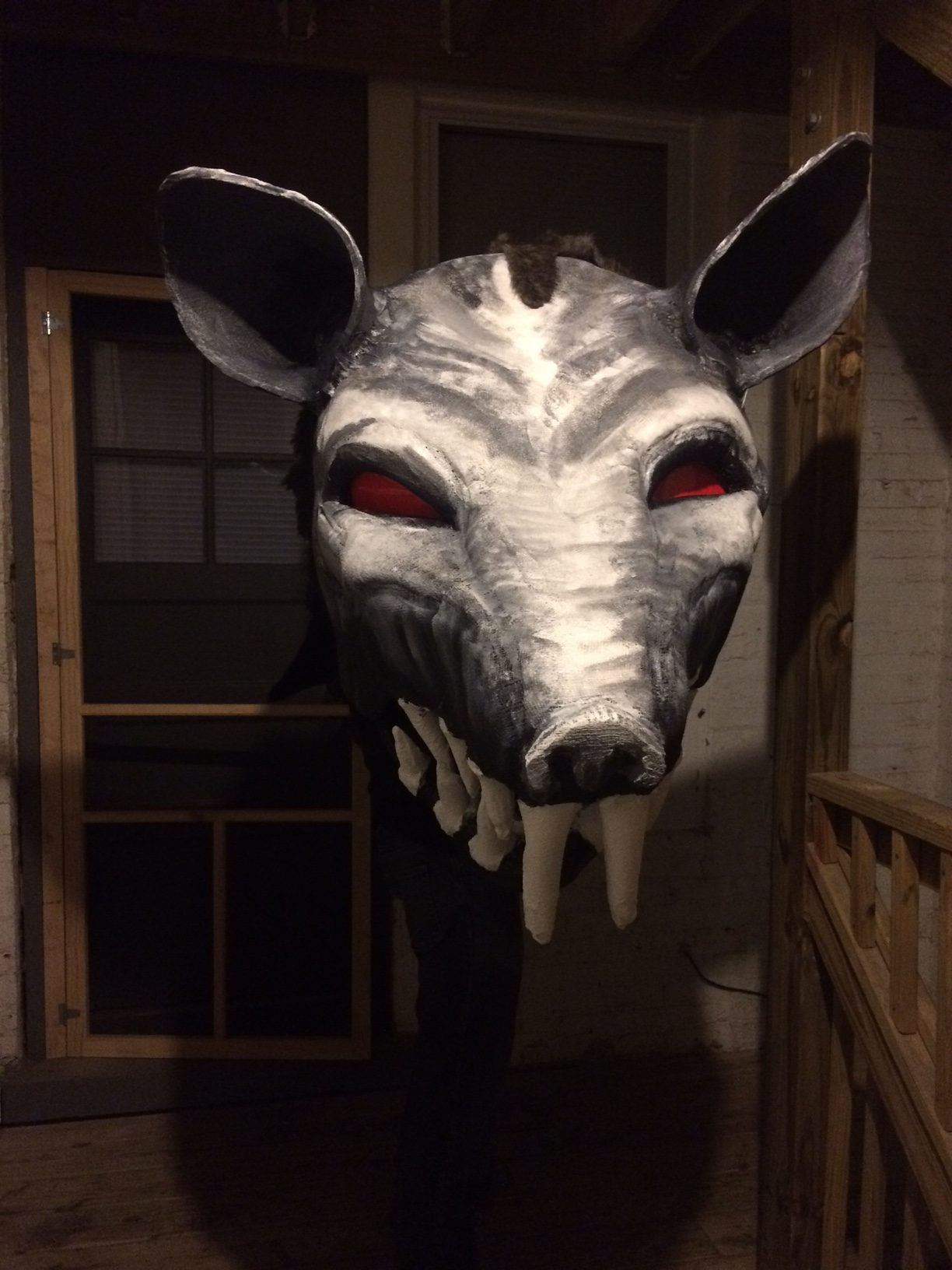 Another view of the completed puppet.